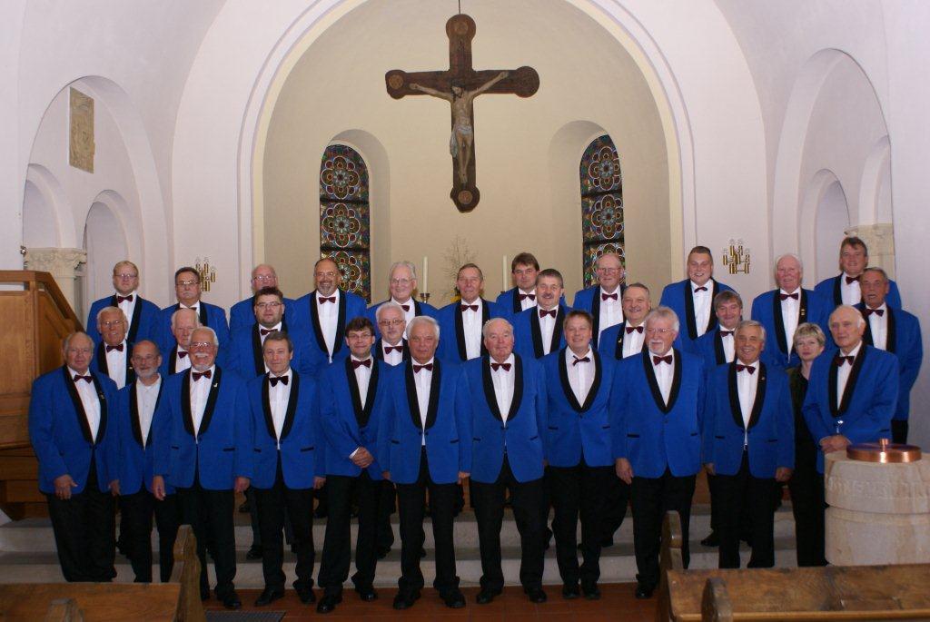 Der Chor zum Auftritt mit den Ural-Kosaken am 27.09.2012 in der Holter Kirche